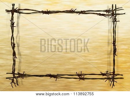 Frame From Barbed Wire