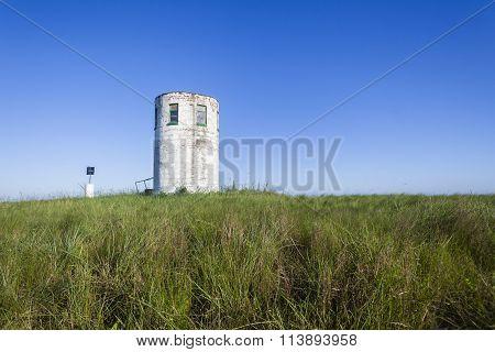 Lookout Tower Blue Landscape
