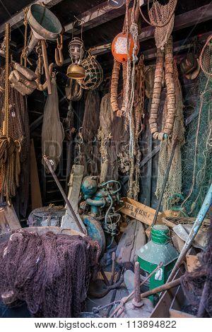 inside Fisher mans hut