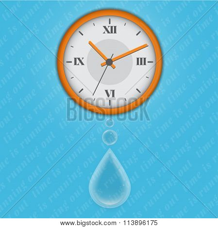 time is running out as water