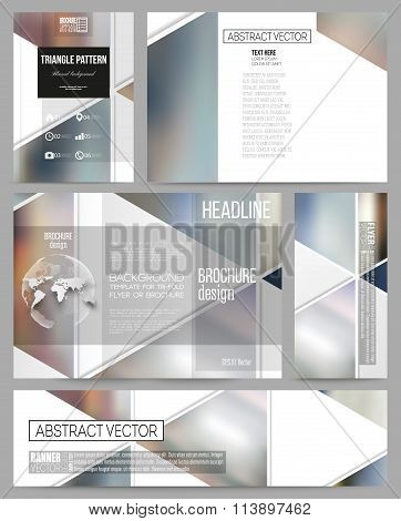Business templates for presentation, brochure, flyer or booklet. Abstract multicolored background of