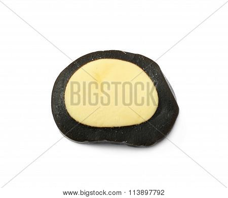 Black licorice candy isolated