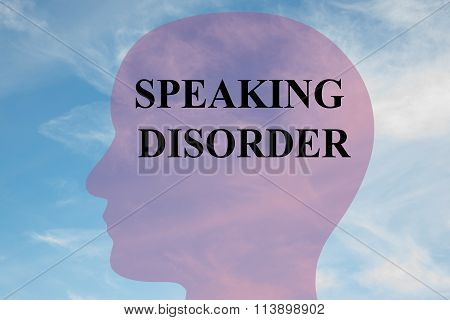 Speaking Disorder Concept