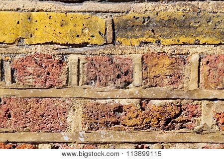 In London   The    Abstract     Ancien Wall And Ruined Brick