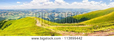Path Through Panoramic Mountain Landscape