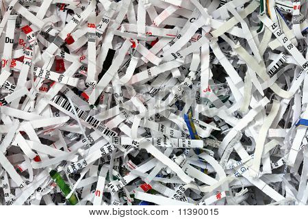 Shredded Document Background