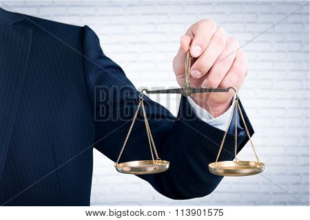 Lawyer scales.