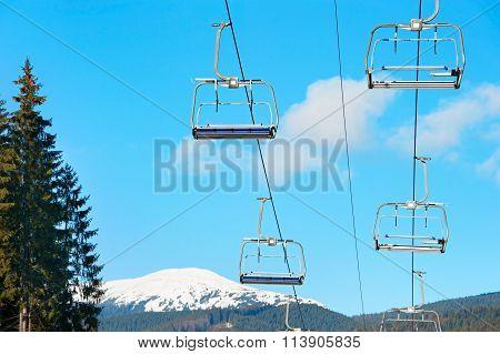 Ski Lift With Nobody