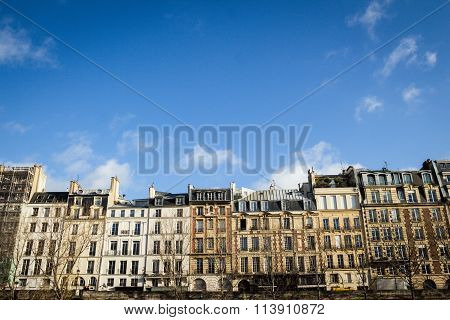 Traditional Parisian Apartment Buildings