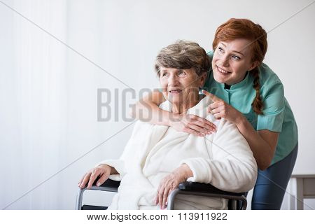Disabled Patient And Doctor