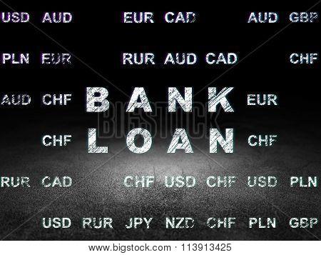 Money concept: Bank Loan in grunge dark room