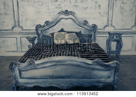 Romantic wooden bed