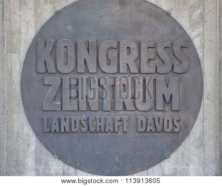 DAVOS, SWITZERLAND - APRIL29, 2012 : Congress building (Kongress Zentrum) in Davos, Switzerland, for the 42th World Economic Forum. The Annual Meeting 2016 will take place on 21-24 January.