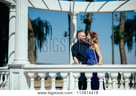 Lovely young couple emotionally looking at each other.