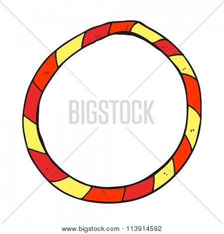 freehand drawn cartoon hula hoop