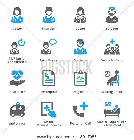 Medical & Health Care Icons Set 3 - Services | Sympa Series