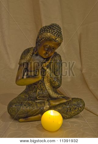 Wooden figure of Buddha