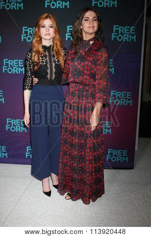 LOS ANGELES - JAN 9:  Katherine McNamara, Maia Mitchell at the Disney ABC TV 2016 TCA Party at the The Langham Huntington Hotel on January 9, 2016 in Pasadena, CA