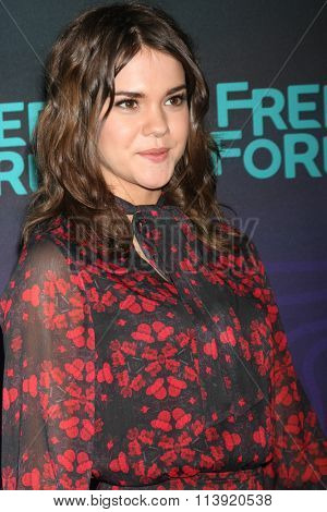 LOS ANGELES - JAN 9:  Maia Mitchell at the Disney ABC TV 2016 TCA Party at the The Langham Huntington Hotel on January 9, 2016 in Pasadena, CA