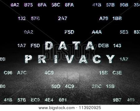 Privacy concept: Data Privacy in grunge dark room
