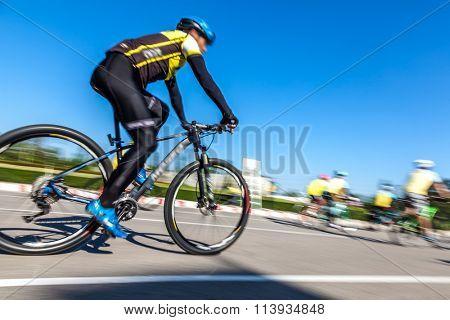 Racing Bike,Motion blurred