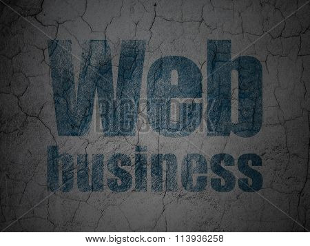 Web development concept: Web Business on grunge wall background