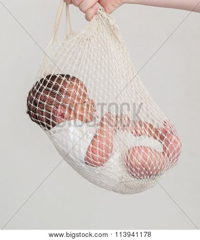 Newborn baby first day delivery hold