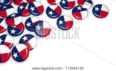 Texas Flag On Badges