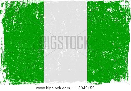 Nigeria Vector Flag on White
