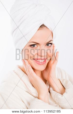 Beautiful Pretty Young Woman Making Spa Procedures