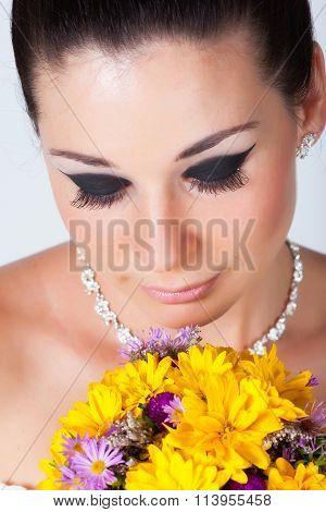 Bride portrait in studio