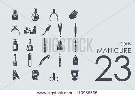 Set of manicure icons