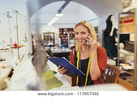 Young tailor woman