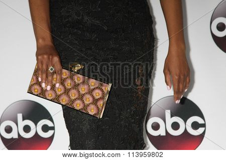 LOS ANGELES - JAN 9:  Mekia Cox at the Disney ABC TV 2016 TCA Party at the The Langham Huntington Hotel on January 9, 2016 in Pasadena, CA