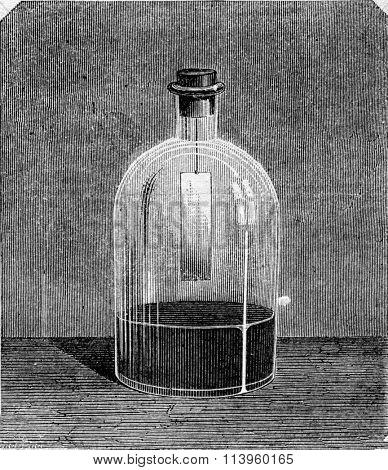 Gold leaf on mercury, vintage engraved illustration. Magasin Pittoresque 1870.