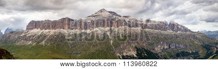 View Of Sellagruppe Or Gruppo Di Sella, South Tirol