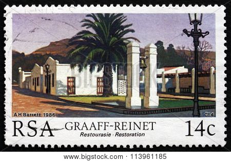 Postage Stamp South Africa 1986 Graaff-reinet, Restoration Proje