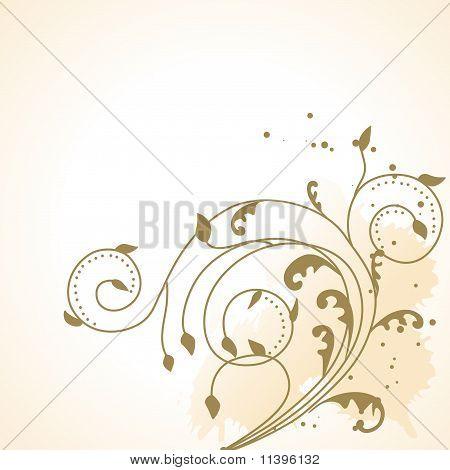 drawng floral background elements on color background