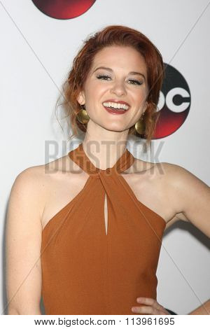 LOS ANGELES - JAN 9:  Sarah Drew at the Disney ABC TV 2016 TCA Party at the The Langham Huntington Hotel on January 9, 2016 in Pasadena, CA