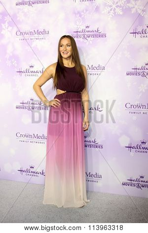 LOS ANGELES - JAN 8:  Crystal Lowe at the Hallmark Winter 2016 TCA Party at the Tournament House on January 8, 2016 in Pasadena, CA