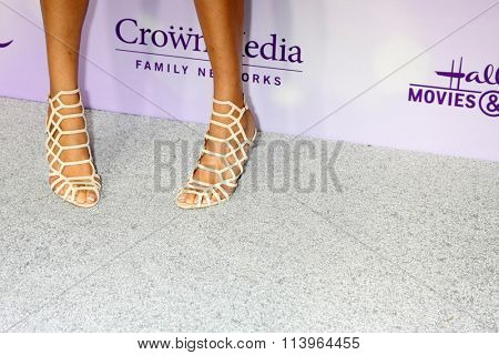 LOS ANGELES - JAN 8:  Kristin Smith (shoe detail) at the Hallmark Winter 2016 TCA Party at the Tournament House on January 8, 2016 in Pasadena, CA