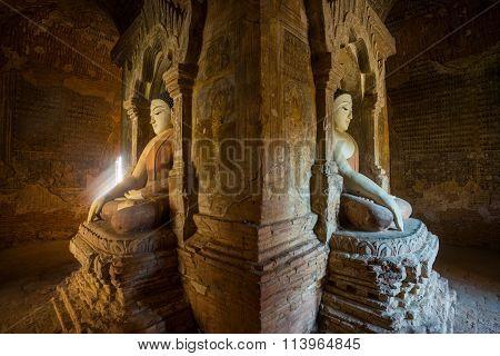 Old Buddha's statue in a Bagan pagoda, Mayanmar