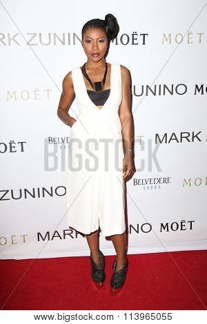 LOS ANGELES - JAN 7:  Gabrielle Dennis at the Mark Zunino Atelier Opening at the Mark Zunino Atelier Boutique on January 7, 2016 in Beverly Hills, CA