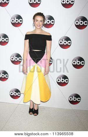 LOS ANGELES - JAN 9:  Elizabeth Henstridge at the Disney ABC TV 2016 TCA Party at the The Langham Huntington Hotel on January 9, 2016 in Pasadena, CA