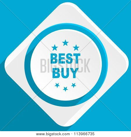 best buy blue flat design modern icon for web and mobile app