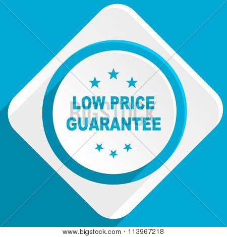 low price guarantee blue flat design modern icon for web and mobile app