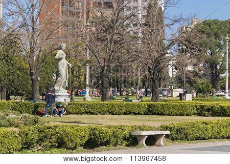 Moreno Square In La Plata City In Buenos Aires Argentina