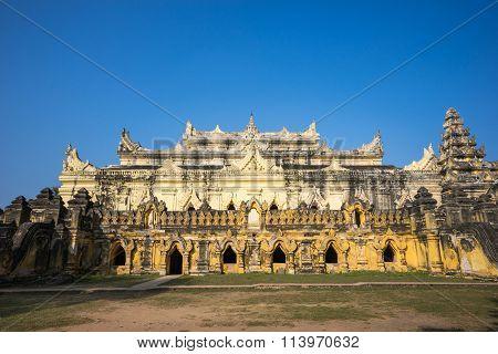 Maha Aung Myi Bon Zan Monastery in Inwa (ancient city of Ava)