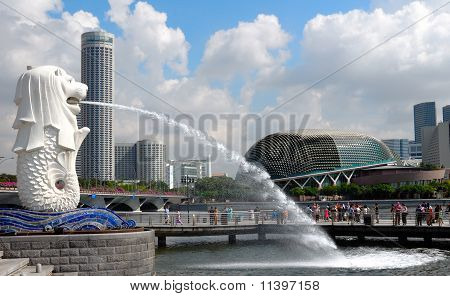 Merlion, Marina Bay, Singapore