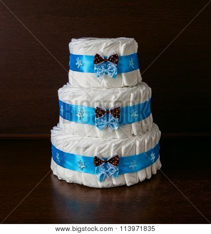 Cake Made From Diapers